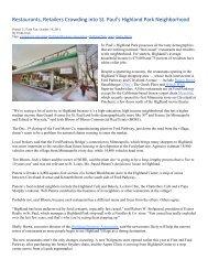 Restaurants, Retailers Crowding into St. Paul's Highland Park ...