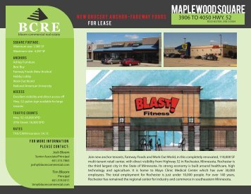 MAPLEWOOD SQUARE - Bloom Commercial Real Estate