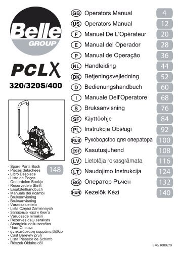 Belle - PCLX320 - Light Petrol Compactor Plate - Exsel Plant & Tool ...