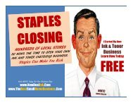 Millionaire Secrets by NDITC Staples Inc SPLS Inkjet Toner Staples is Closing Hundreds of Office Supply Stores NDITC