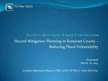 Hazard Mitigation Planning in Somerset County – Reducing Flood ...