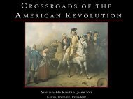 Crossroads of American Revolution - Sustainable Raritan River