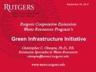 Green Infrastructure Initiative - Sustainable Raritan River