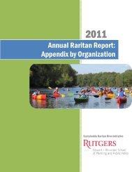 Appendix by Organization - Sustainable Raritan River