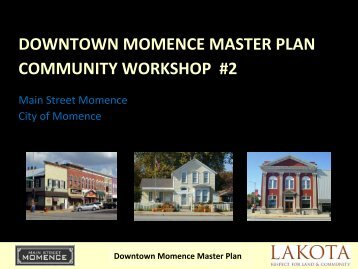 DOWNTOWN MOMENCE MASTER PLAN ... - The Lakota Group