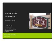 Justice 2030 Vision Plan - The Lakota Group