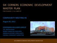 six corners economic development master plan - The Lakota Group