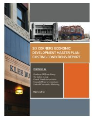 SIX CORNERS ECONOMIC DEVELOPMENT ... - The Lakota Group