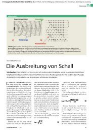 Die Ausbreitung von Schall - TrockenBau Akustik