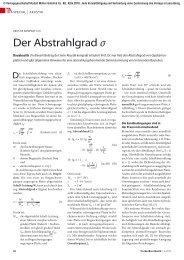 Der Abstrahlgrad σ - TrockenBau Akustik
