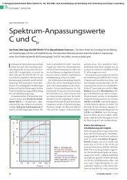 Spektrum-Anpassungswerten (C, Ctr) - TrockenBau Akustik
