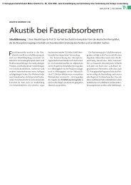 Akustik bei Faser absorbern - TrockenBau Akustik