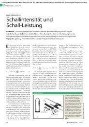 Schallintensität und Schall-Leistung - TrockenBau Akustik