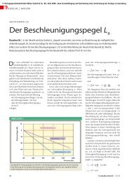 Der Beschleunigungspegel La - TrockenBau Akustik