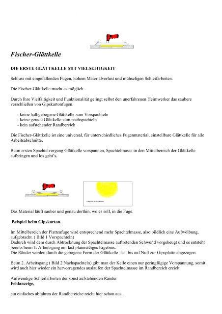 Fischer-Glättkelle - Trockenbauforum.de