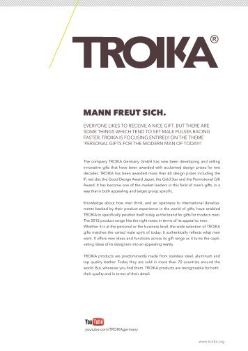 Pressemappe Blätter_1 2012.indd - Troika Germany GmbH