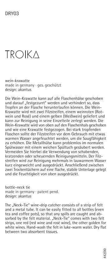 wein-krawatte made in germany · ges. geschützt design: akantus ...