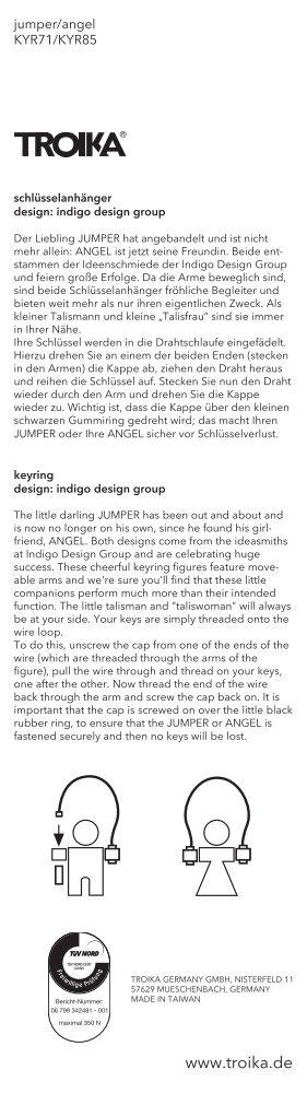 notice d´utilisation (PDF à télécharger) - Troika Germany GmbH