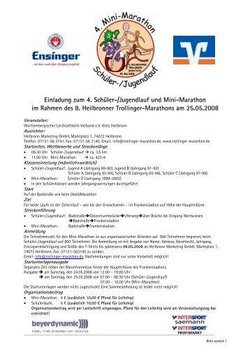 Ausschreibung und Anmeldung - Heilbronner Trollinger-Marathon