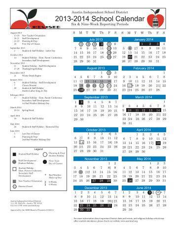 AISD Calendar 2013-14 Eng-Spn Color_.indd - Austin ISD