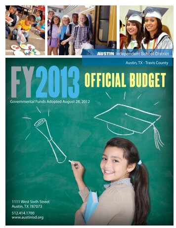 FY2013 Official Budget - Austin ISD