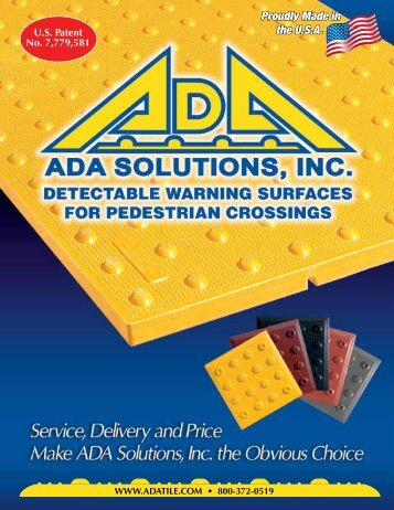 ADA Solutions, Inc. - Product Brochure - Reed Construction Data
