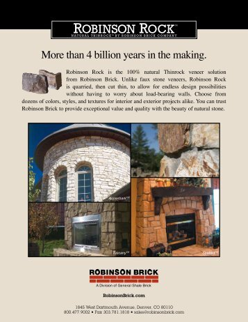 Robinson Rock Product Data Sheet - Brock White