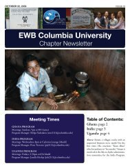 Newsletter 1 - Columbia University - Engineers Without Borders
