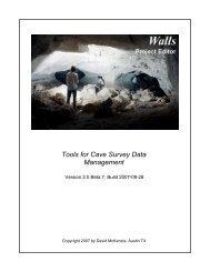 Walls(PDF Manual) - Cavediggers.com