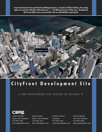 CityFront Development Site - CBRE Marketplace