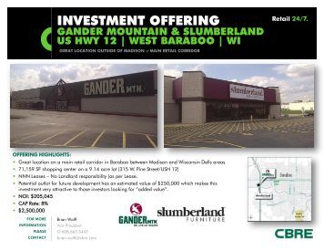 INVESTMENT OFFERING - CBRE Marketplace