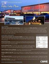 Hobby Lobby Plaza - CBRE Marketplace