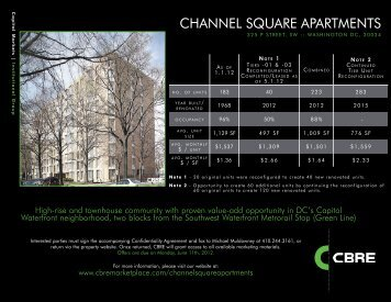 Offering Brochure - CBRE Marketplace