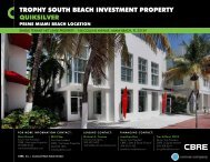 TROPHy SOUTH BEACH INVESTMENT PROPERTy QUIKSILVER