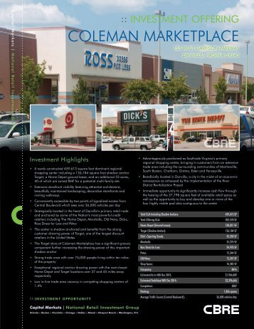 COLEMAN MARKETPLACE - CBRE Marketplace