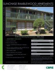 SUNCHASE RAMBLEWOOD APARTMENTS - CBRE Marketplace