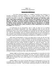 CBRE, Inc. Confidentiality Agreement MAGAZINE PORTFOLIO You ...
