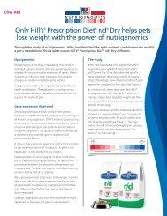 Nutrigenomics insert - HillsVet