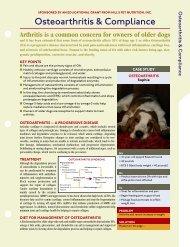 Osteoarthritis & Compliance - HillsVet