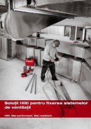 Soluţii Hilti pentru fixarea sistemelor de ventilaţii