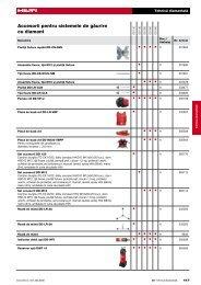 Accesorii pentru sistemele de g`urire cu diamant - Hilti