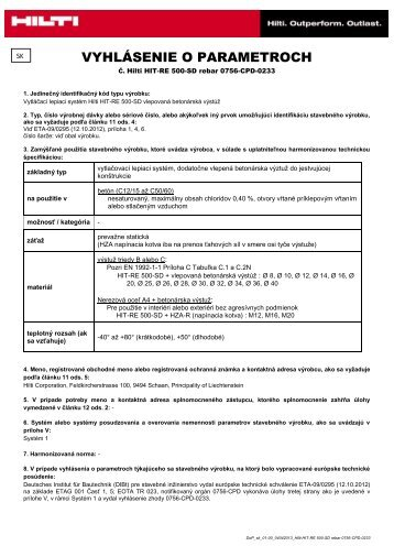 REBAR Súbor Adobe Acrobat (.pdf) 0.29 MB SK - Hilti