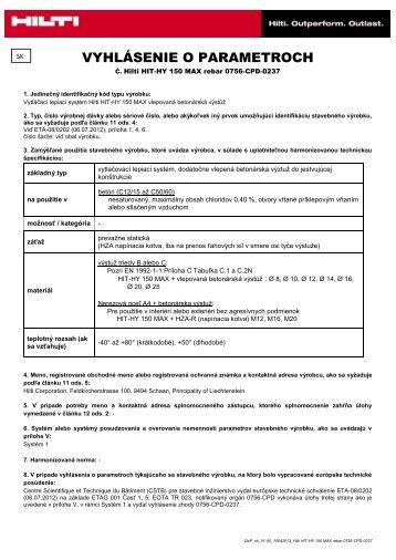REBAR Súbor Adobe Acrobat (.pdf) 0.3 MB SK - Hilti