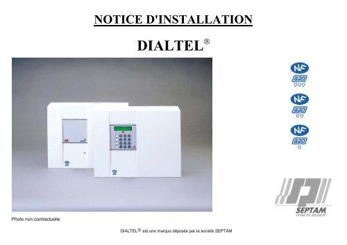 Clavier Programmation externe Septam 3045 programmation Transmeteur Dialtel 3031