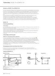 Türbeschläge | DIN EN 179 und DIN EN 1125 - HEWI