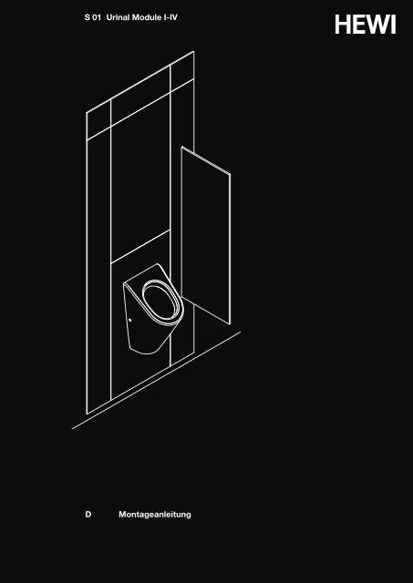 Montageanleitung D S 01 Urinal Module I-IV - HEWI