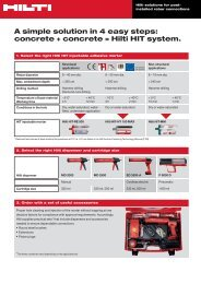The right HIT system in 4 easy steps - Hilti