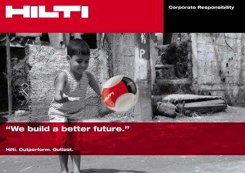 Corporate Responsibility Brochure - Hilti