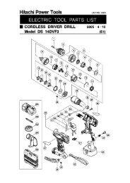 Hitachi - DS14DVF3 - Cordless Drill / Driver