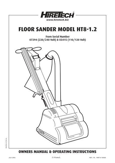 HIRETECH HT8 10 floor sander abrasive sheets 1 X 40  2 x 60 3 x 80 4 x 120
